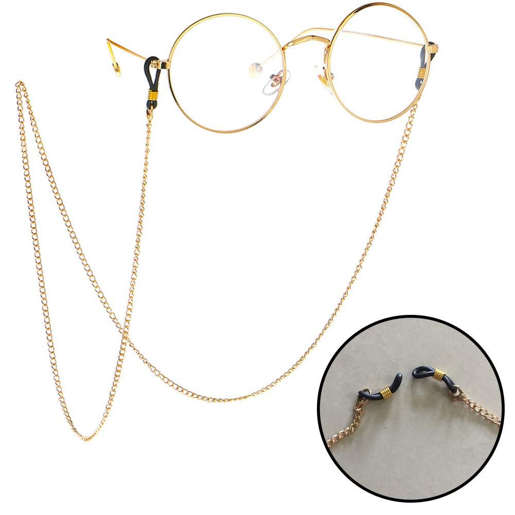 1PCS Glasses lanyard glasses metal chain hollow lanyard glasses accessories boys and girls yamysalad