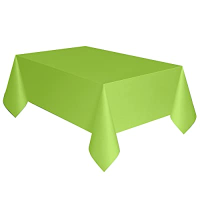 "Neon Green Plastic Tablecloth, 108"" x 54"": Toys & Games"