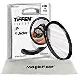 TIFFEN 40.5MM UV Protection Filter for SONY A6000 and NEX Series Cameras with 16-50mm Lens and Samsung NX300 with 20-50mm Lens + MagicFiber Microfiber Lens Cleaning Cloth