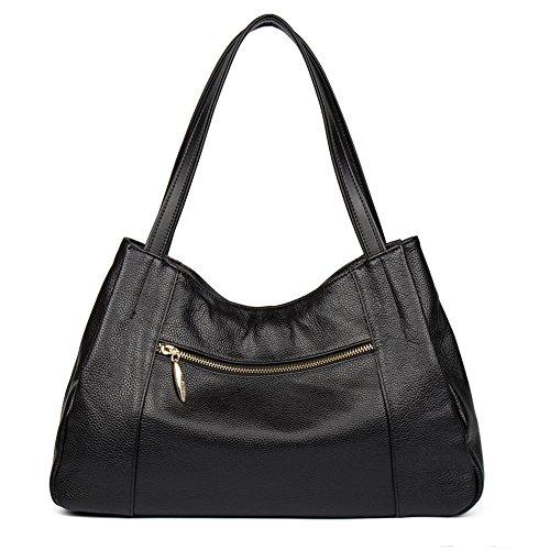 mujer Taro señora casual b la moda de cuero Rosa tipo universidad chica de CLUCI para negro a 12 Diseñador Bolso maletín 0Rq6BWwaX