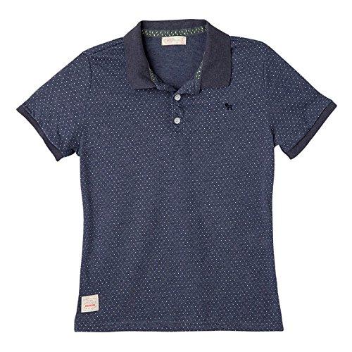Grande 6 Lights (OFFCORSS Big Boys Kid Polo Short Sleeve Solid Color Striped Cool Casual Button Up Cotton Sport T-Shirt Camiseta Manga corta Niño Grande Light Blue 6)
