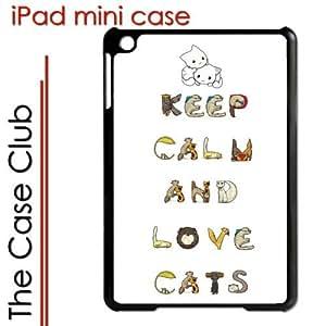 iPad Mini Black Protective Hard Case - Keep Calm and Cats