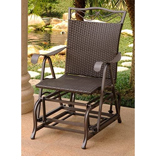 Discount International Caravan Patio Glider Chair in Chocolate Finish supplier