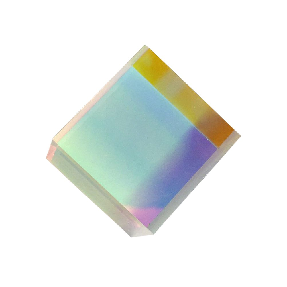 UEETEK Cubo del prisma,Prisma a dispersione RGB in vetro ottico X-CUBE per la decorazione d'arte per l'insegnamento della fisica, 20 * 20 * 20mm