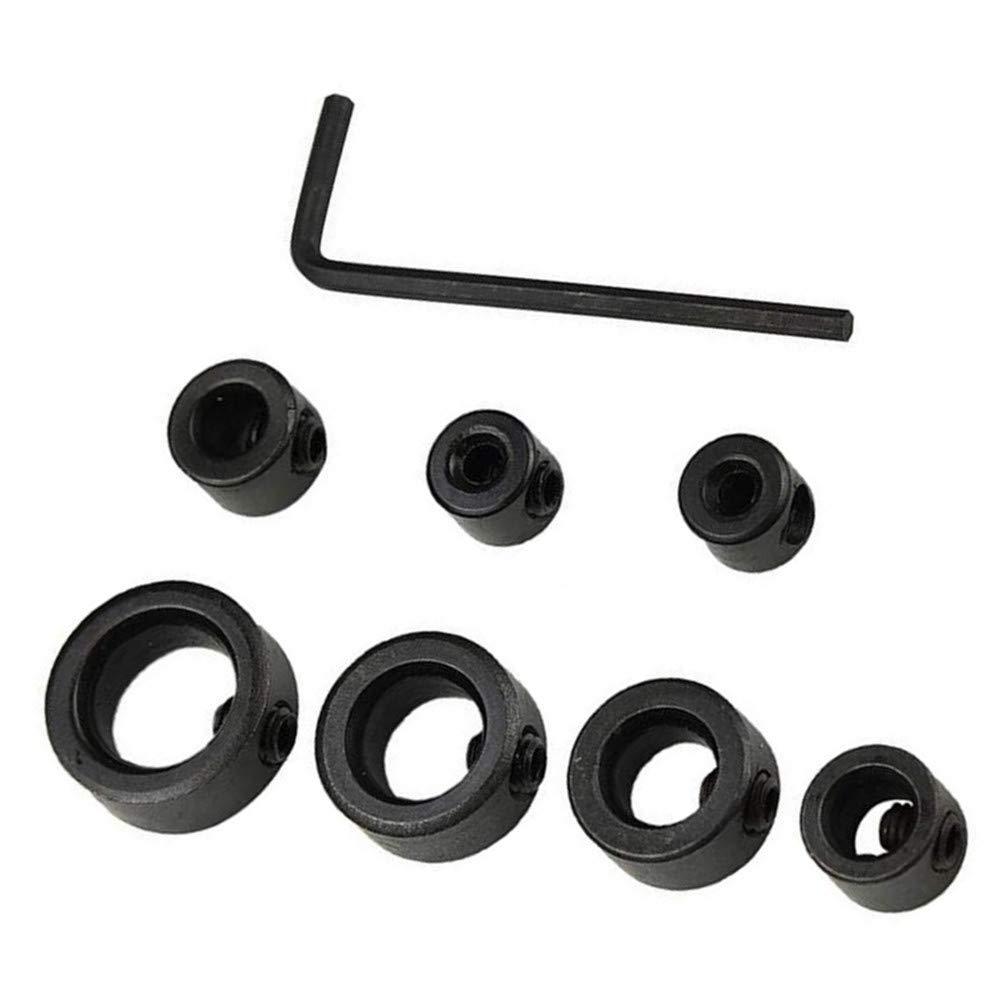 topes de anillo posicionador llave localizadora tornillo abrazadera 8 piezas 3-16 mm broca de profundidad para carpinter/ía