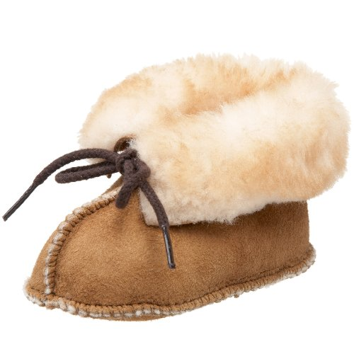 Minnetonka Sheepskin Bootie (Infant/Toddler),Golden Tan,3 M US Infant Minnetonka Genuine Boots