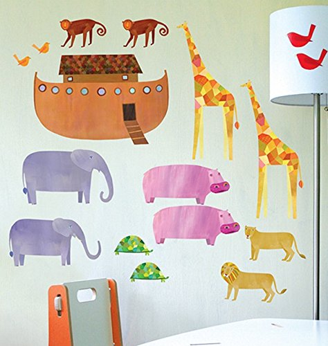 Wallies 13544 Peel and Stick Play Noah's Ark Room Décor Sticker