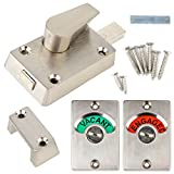 Toilet Indicator Locks Bolt Vacant/Engaged Bathroom WC Toilet Privacy Door Lock Latch for Home Toilet Bathroon Tools