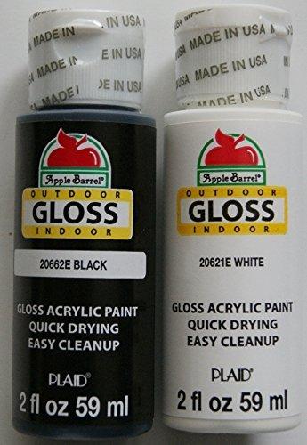 Apple Barrel Acrylic Paint Outdoor Indoor Gloss Set Black