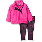 PUMA Baby Girls Track Jacket and Legging Set, Pink Glow, 6-9 Months