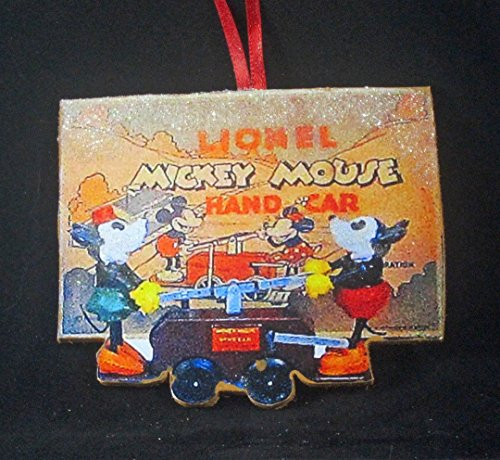 - Disney Handcar Ornament, Handcrafted Wood Lionel Train Collector Set Christmas Kids' Ornaments, Mickey Mouse, Minnie Mouse