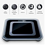 INSEN Digital Body Weight Bathroom Scale with Tempered Glass Surface and Batteries