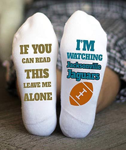Jacksonville Jaguars Socks Birthday Gift Football Game ()