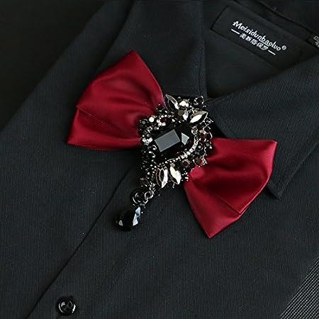ZLYAYA,corbata,pajarita,Camisa de vestir traje de pajarita ...