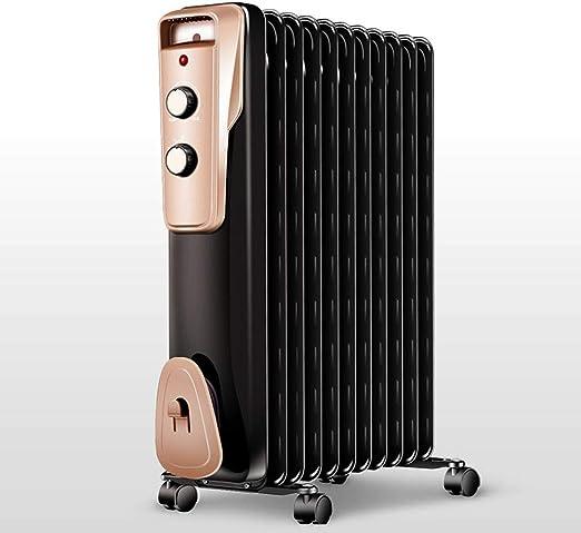 Radiador de Aceite - eléctricos, radiadores de bajo Consumo con Aletas 13, una función de Temporizador, 3 de Calor, termostato Regulable y sobrecalentamiento protección tomatik: Amazon.es: Hogar
