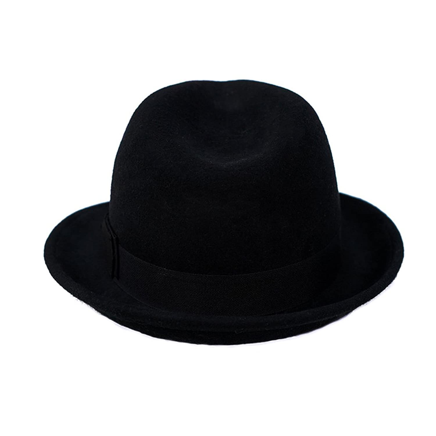 Black Fedora Felt Hat With Ribbon - OS / BLACK I Saw It First C5ERZOuxwz