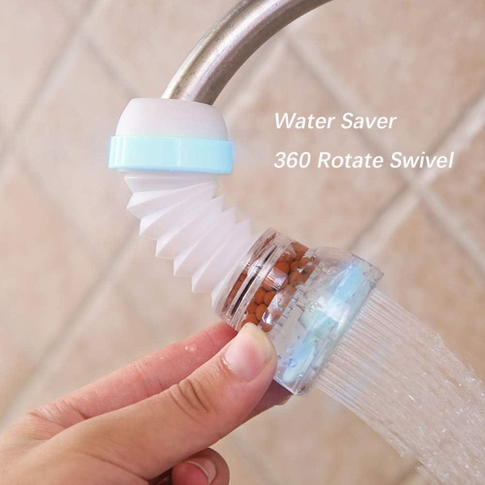 Extensor de grifo de agua para ba/ño y cocina magn/ético con filtro de maifanita rotaci/ón de 360 grados ahorro de agua accesorios de cocina saludables VOVCIG giratorio para evitar salpicaduras