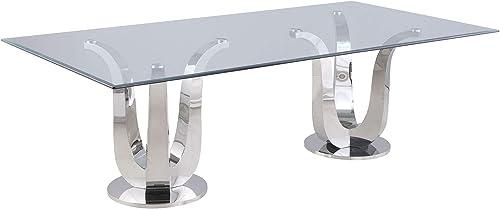 Milan Amelia Dining Table, Silver