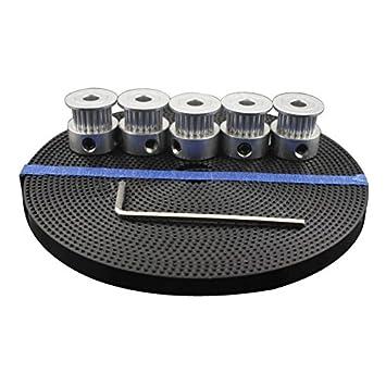 SODIAL Impresora 3D Accesorios 5pcs 20 dientes GT2 Polea de ...