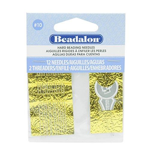 Beadalon JNEEH10/12 BEADLON Needles Size 10 12 Pack, Multicolor ()