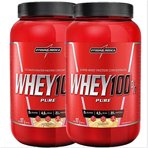 kit 2x Whey 100% Pure 907g Banana e Baunilha Integralmedica