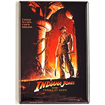 93810bbb6fcea Amazon.com: Indiana Jones and the Temple of Doom Movie Poster Fridge ...
