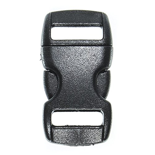Paracord Planet Brand Contoured Side Release Black Buckle   Multiple Size And Quantity