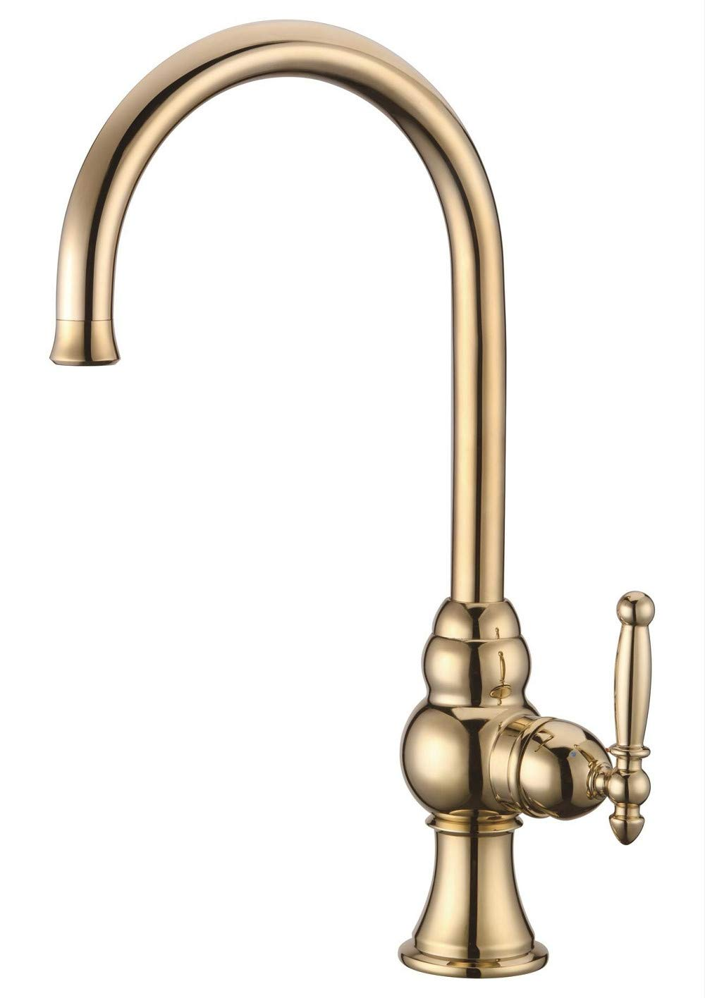 A Decorry Sink Faucets to Keep Water Faucets with Brass, Ceramic Valve Core Kitchen Basin Faucet gold with Single, B