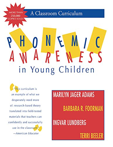Pdf Teaching Phonemic Awareness in Young Children: A Classroom Curriculum