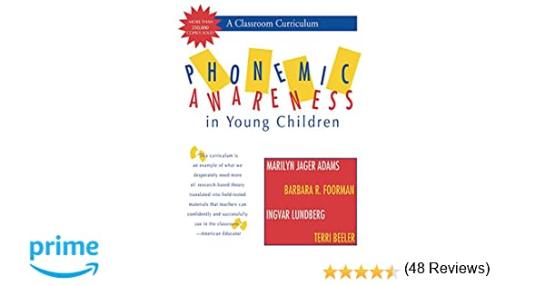 Amazon.com: Phonemic Awareness in Young Children: A Classroom ...