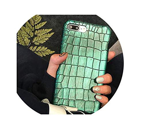 Green Sequins Crocodile Case for iPhone Xs Max Xr Xs X 7 8 Plus Case Leather Cover for iPhone 6S Plus iPhone Case for iPhone 7,Green 1,for iPhone Xs Max (T Mobile Concord Phone Cases)