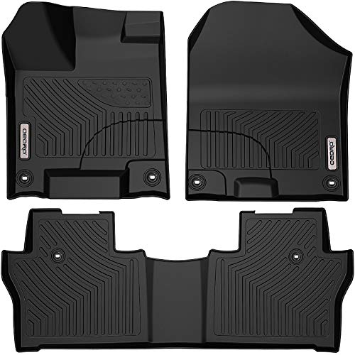 oEdRo Floor Mats Compatible for 2016-2020 Honda Pilot