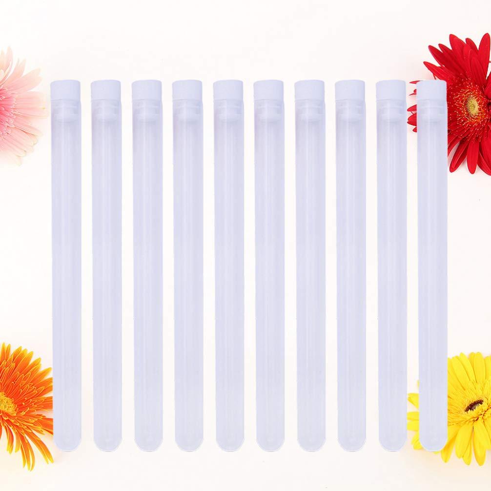 SUPVOX Caja de coser de pl/ástico tubo de aguja de tejer accesorios de botella transparente para aguja de punto de cruz 10 piezas 16x1 cm rojo