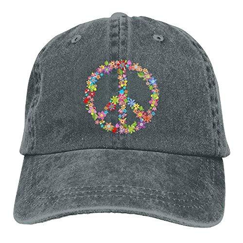 Jane Commons Floral Peace 3 Denim Hat Adjustable Womens Baseball Cap
