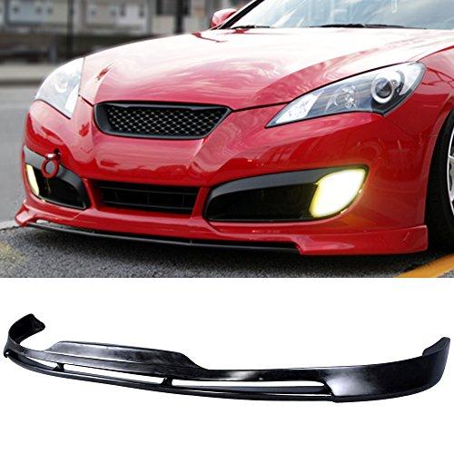 (IKON MOTORSPORTS Front Bumper Lip Fits 2010-2012 Hyundai Genesis Coupe | Type S1 PU Black )