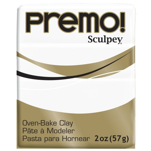 (Premo Sculpey Polymer Clay 2 Ounces-White (PE02 5001))