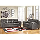 Cheap Flash Furniture Signature Design by Ashley Alliston Living Room Set in Gray DuraBlend