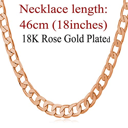 Khuntorians-necklace Men 5MM Width Gold Color Fashion Gift Wholesale Curb Link Chain Men Hip Hop Jewelry N744,k14