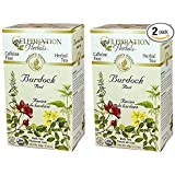 Celebration Herbals Organic Burdock Root Tea Caffeine Free - 48 Teabags in Total