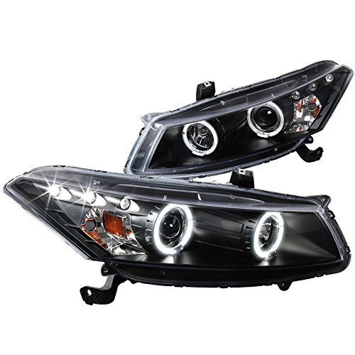 2009 Honda Accord Coupe - Spec-D Tuning 2LHP-ACD082JM-TM Honda Accord Dual Halo Led Black 2Dr Coupe Projector Headlights