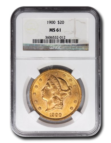 1900 No Mint Mark Liberty Head Twenty Dollar NGC MS-61