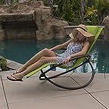 Belleze 1-Piece Folding Lounge Chair, Green