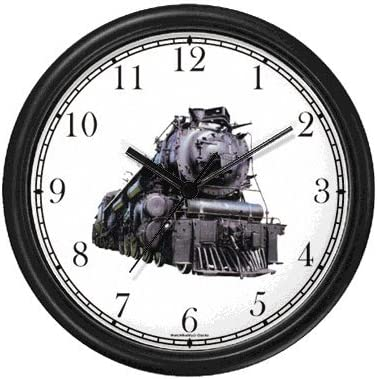 WatchBuddy Steam Engine or Locomotive Train No.1 Wall Clock Timepieces White Frame