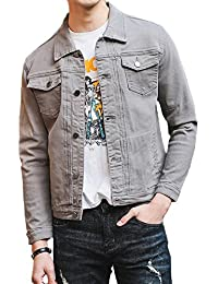 Mens Classic Slim Fit Trucker Jean Denim Jacket Coat
