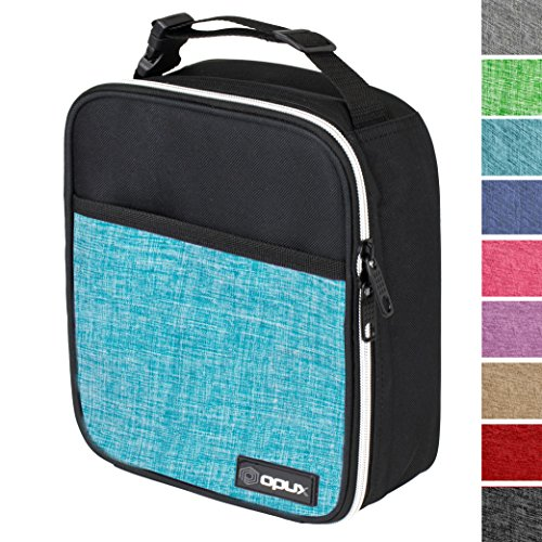 OPUX Premium Thermal Insulated Mini Lunch Bag | School Lunch Box For Boys, Girls, Kids | Soft Leakproof Liner | Compact Lunch Pail (Turquoise) ()