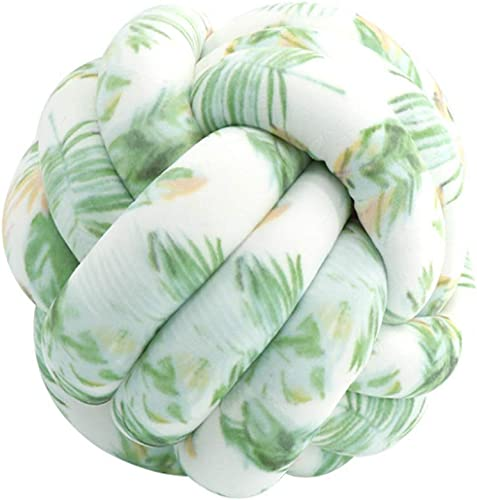 HZYFP Decorative Cushion Velvet Knot Pillow Ball Sofa Home Decor Knot Cushion Nap Sleeping Pillow Leaves