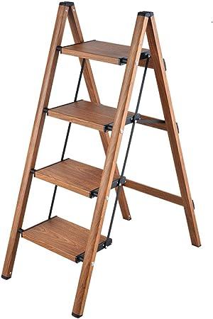 SONGTING Step stool Escalera de Aluminio Liviana de 4 peldaños Escalera de Mano Plegable Escaleras de Mano Escalera de casa y Cocina Escalera Antideslizante Escaleras de Pedal Resistentes y Anchas: Amazon.es: Hogar