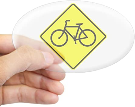 SELECT SIZE Share the Road Bicycle Oval Car Vinyl Sticker