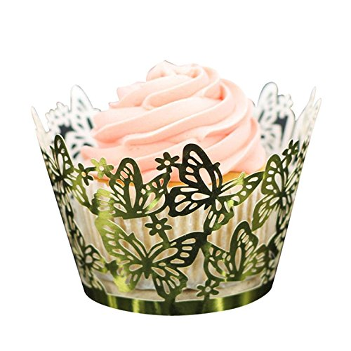 - Cake Decorating Supplies - Cake Decoration 50pc Diy Cupcake Wrappers Butterfly Lace Cup Gold - Printer Star Kids Professionals Dust Baseball Baby Throne Train Brush Paint Pieces Carrying Silver