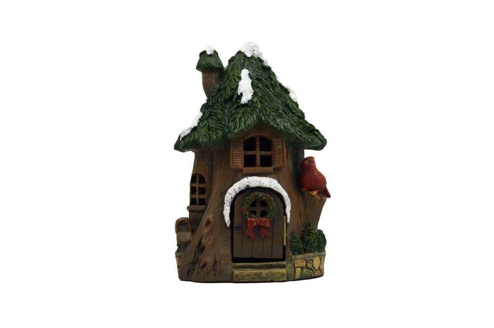 Fairy Garden Christmas Miniature - Christmas Cardinal House